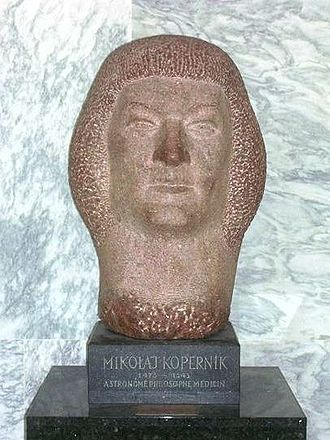 United Nations Art Collection - A bust of Nicolaus Copernicus at the United Nations Headquarters, New York City, a gift from the People's Republic of Poland to the United Nations (1970).