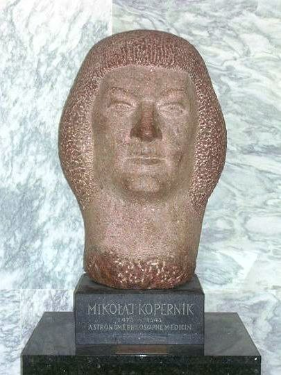 Nicolaus Copernicus bust at UN New York
