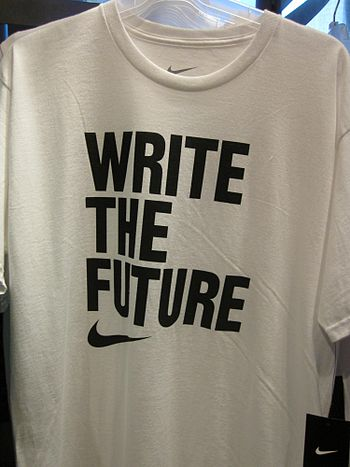 A Nike Write the Future soccer shirt for the 2...