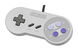 Game controller - A North American Super NES game controller from the early 1990s.