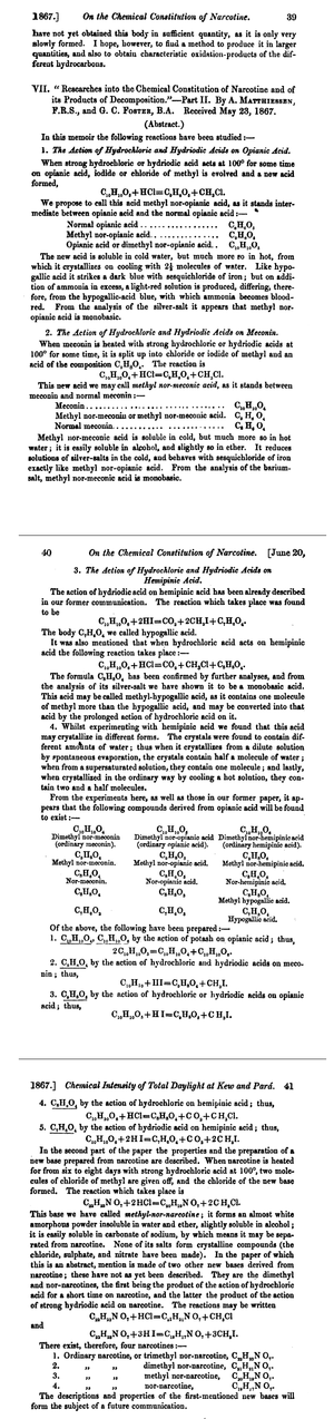 Nor- - 1867 publication about nor-compounds
