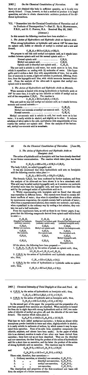 Nor- - 1867 publication about nor-compounds