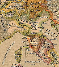 The Papal States took the name of Roman Republic in 1798.
