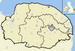 Norfolk outline map Beeston Regis.png