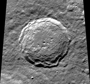 Kirkwood (crater) - Image: Normal kirkwood clem 1