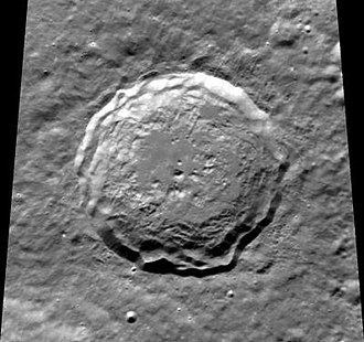 Kirkwood (crater) - Clementine mosaic