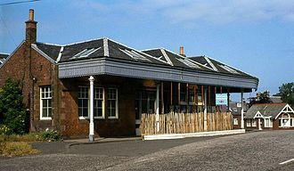 North Berwick railway station - The old station building was demolished in 1985.