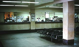 North Philadelphia station - The lower level ticket counter in 1978
