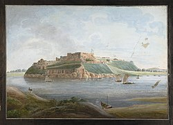 North view of the fort of Chunargarh on the Ganges from across the river..jpg