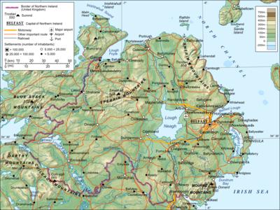 Irland Karte.Grenze Zwischen Irland Und Dem Vereinigten Konigreich