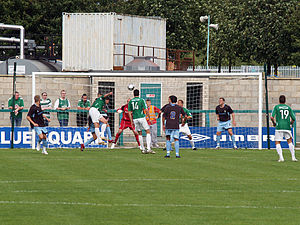 Northwich Victoria F.C. - Northwich play in a friendly against Bury in 2008