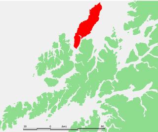 Andøya island in Andøy, Norway