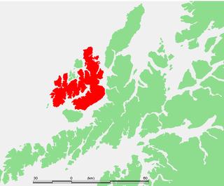 Langøya island in Nordland, Norway