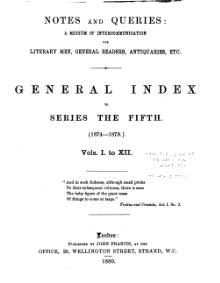 Notes and Queries - Series 5 - General Index.djvu