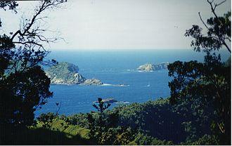 Raoul Island - Raoul Island, looking towards the minor islands northeast