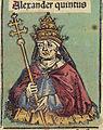 Nuremberg Chronicles f 235v 3 Alexander V.jpg