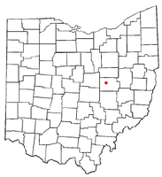 Location of Warsaw, Ohio