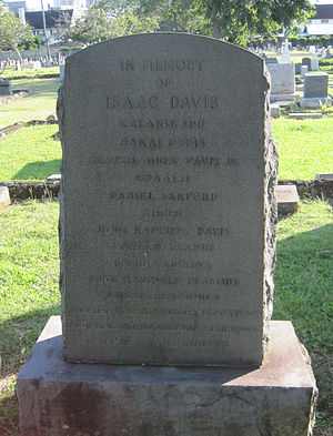 Isaac Davis (Hawaii) - Memorial to Isaac Davis and his descendants, Oahu Cemetery