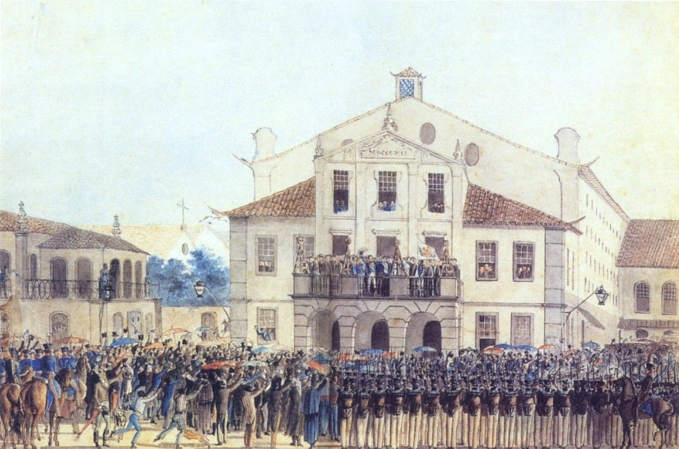 Oath of obedience by Prince Pedro 1821