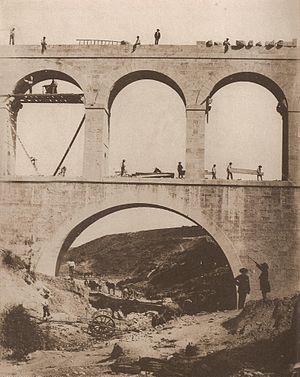 Charles Clifford (photographer) - Obras del Canal de Isabel II: Acueducto de la Sima, Charles Clifford, 1855.