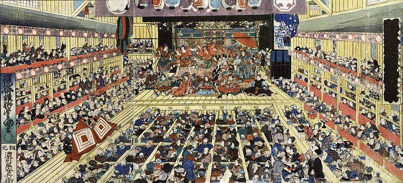 File:Odori Keiyō Edo-e no sakae by Toyokuni III.jpg