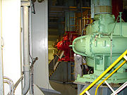 This cargo pump aboard a VLCC can move 5,000 cubic meters of product per hour.
