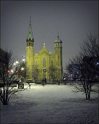 Old St. Patrick's Church (Chicago) - night view