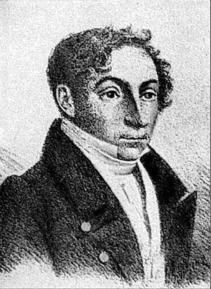 Józef Oleszkiewicz - Oleszkiewicz as a young man (self-portrait?)