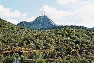 Lesbos - Mt. Olympus' peak rises 967 metres over Lesbos