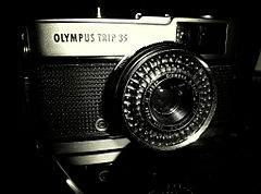 Olympus trip 35 film camera in black & white.jpg