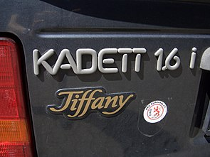 Opel Kadett E 1984-1991 special edition TIFFANY backleft 2008-07-31 A.jpg