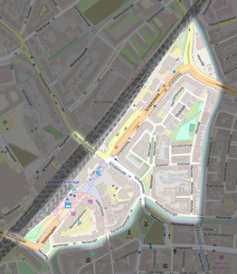 Leiden Stationsdistrict (OpenStreetMap Feb 2016)