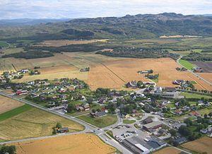 Opphaug - View of the village
