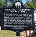 Original Melbourne Village Hall Historical Marker.jpg