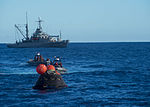 Orion capsule is towed to the well deck of the USS Anchorage (141205-N-FV739-269).jpg