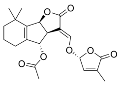 Chemical structure and numbering of orobanchyl acetate