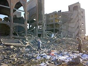 Gaza War (2008–09) - Destroyed building in Rafah, 12 January 2009