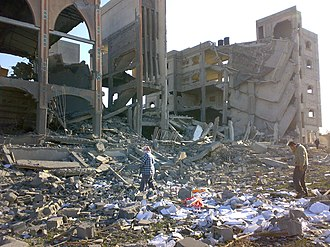 Gaza War (2008–09) - Destroyed building in Rafah, 12 January 2009