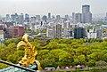 Osaka Osaka-jo Hauptturm Panoramablick 17.jpg