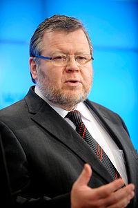 Ossur Skarphedinsson, utrikesminister Island. Nordiska radets session 2009 (1).jpg