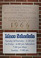 Our Lady of Perpetual Help Church (Williamsburg, Kentucky) - cornerstone, 1966.jpg