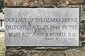 Our Lady of the Ozarks Shrine (Winslow, Arkansas) - cornerstone, 1946.jpg
