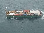Overflight of barge and sunken tug Aries 109 miles east of St. Paul Island 110627-G-TM873-502.jpg