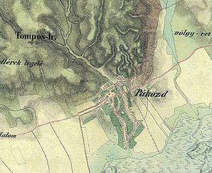 Pákozd - Image: Pákozd második katonai felmérés térképe