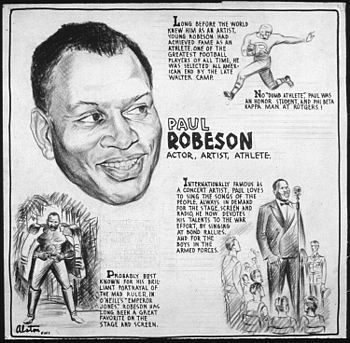 PAUL ROBESON - ACTOR, ARTIST, ATHLETE - NARA -...