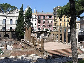 Juturna - Temple of Juturna in Largo di Torre Argentina, Rome.