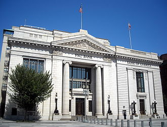 PNC Financial Services - PNC Bank branch, located in the former headquarters of Riggs Bank on Pennsylvania Avenue, Washington, D.C.
