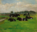 POLDER LANDSCAPE WITH GROUP OF FIVE COWS.PNG