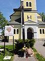 POL Simoradz Krzyż przed kościołem Jakuba.JPG