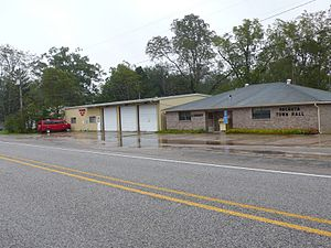 Pachuta, Mississippi - Town hall, library, and fire department of Pachuta